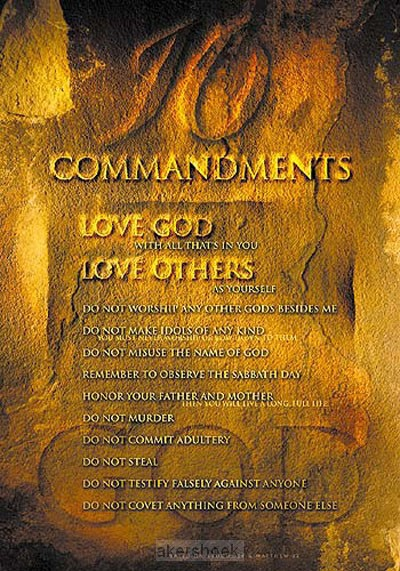 Poster a4 ten commandments